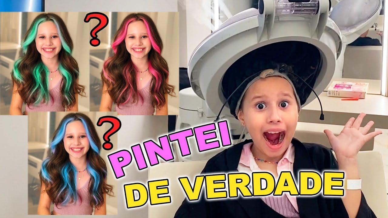 VALENTINA PINTANDO O CABELO DE VERDADE!!! | Valentina Pontes