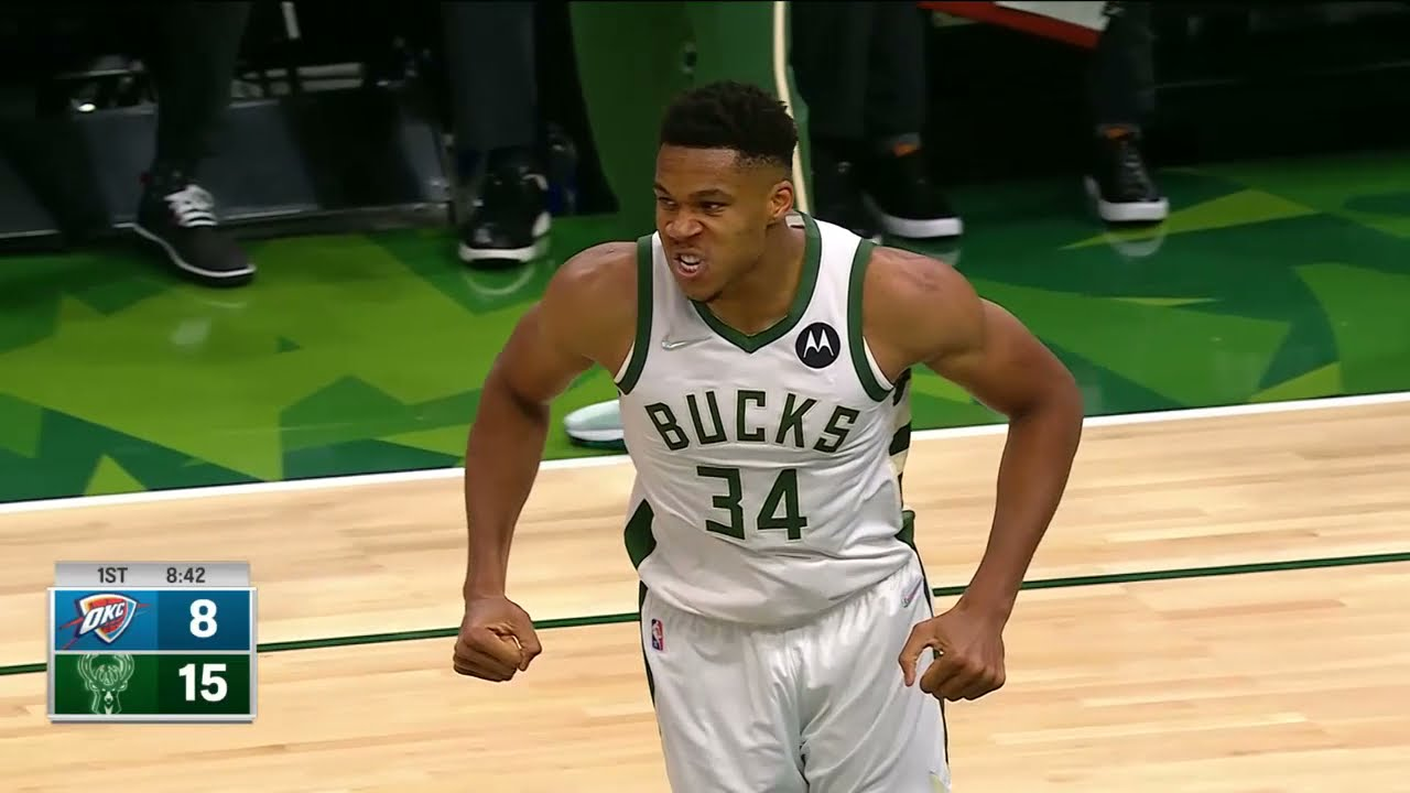Giannis Picks Up Where He Left Off | Dunk & No Look Assist