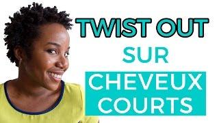 Twist out sur cheveux crépus courts (4b-4c)
