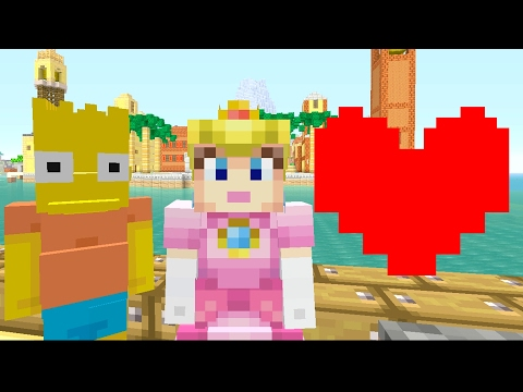 Minecraft Wii U - Super Mario Series - PEACH LOVES BART [169]