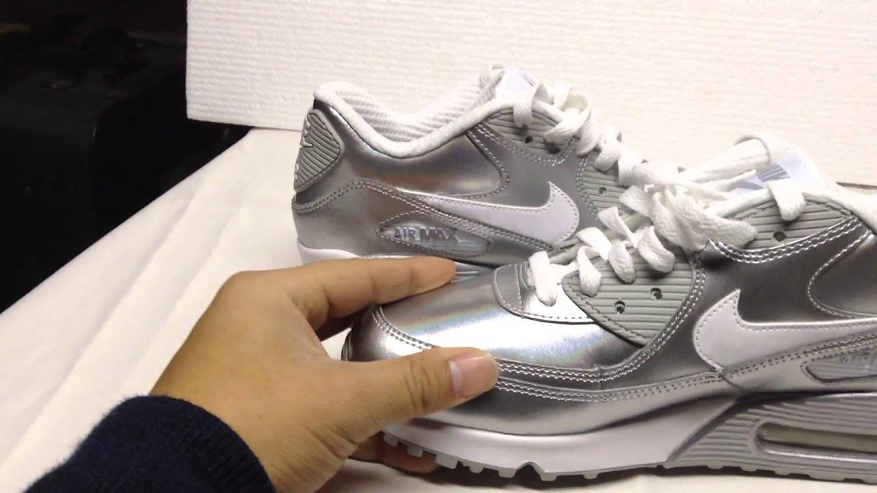 Nike air max 90 size 6 unisex silver