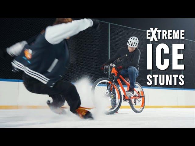 Extreme ICE Stunts ❄️ Kamil Kobędzowski ❄️🚲💨⛸