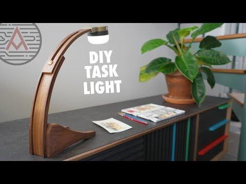 DIY Battery Powered LED Task Light -- Design No. 2 -- Woodworking