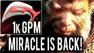 Miracle- Crazy 1k GPM Monkey King with Desolator Godlike Carry Build Intense 9k MMR Gameplay Dota 2