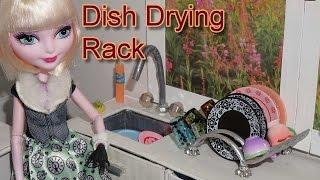 How to make a doll Dish Drying Rack (kitchen) - miniature crafts DIY