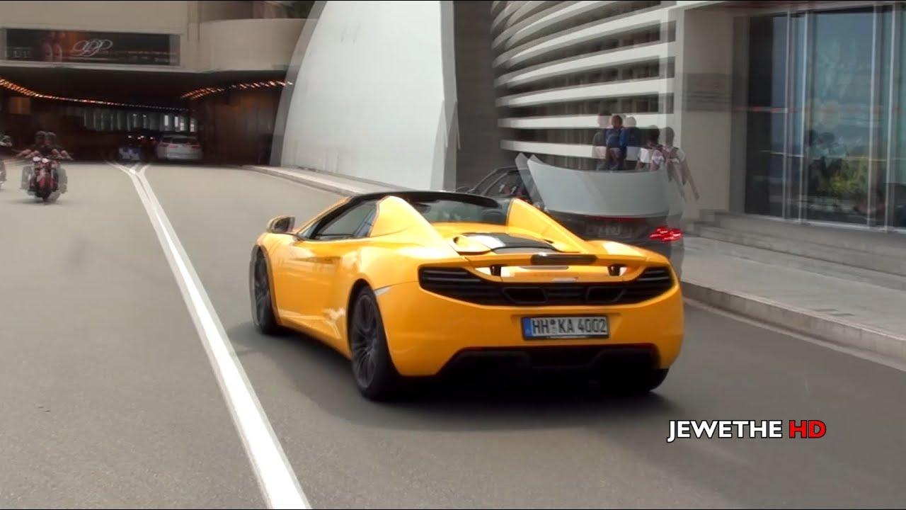 McLaren MP4-12C Spider in Monaco! SOUNDS & Driving Scenes! (1080p Full HD)