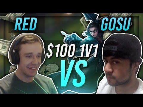 REDMERCY VS HI IM GOSU | $100 1v1 SHOWDOWN!! - League of Legends