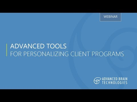 Advanced Tools for Personalizing Client Programs Webinar