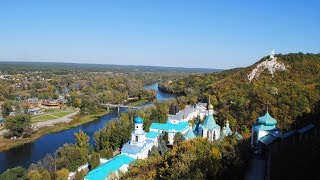 видео Достопримечательности Славяногорск с птичего полета (Украина)