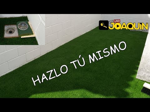 HOW TO INSTALL ARTIFICIAL LAWN (Step by step) Audio in Spanish