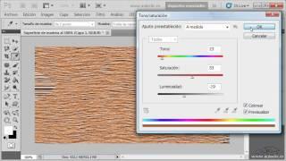 Curso de Photoshop CS5.  Ejercicio 13. Crear una superficie de madera.