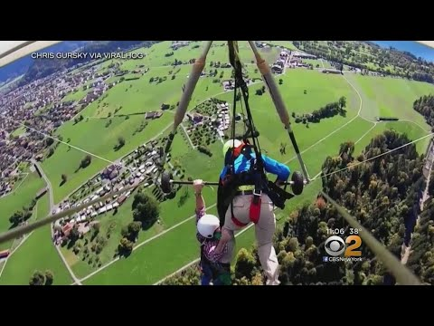 SEE IT: Hang Glider Survives Near Death Experience