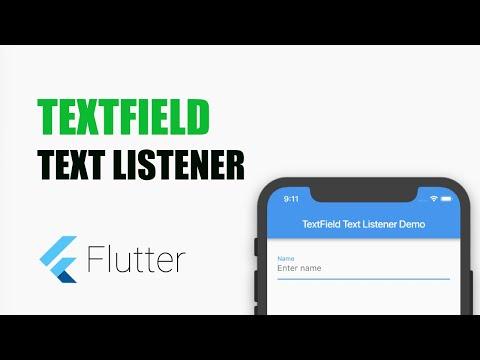 Flutter Tutorial – How to listen to onChange in TextField