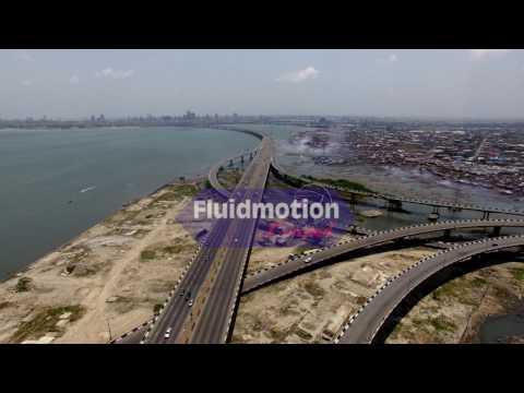 Aerial view Third Mainland Bridge Lagos