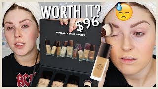 $96 WORTH THE HYPE? 🤷 Hourglass Vanish Foundation First Impression