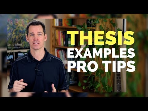 How To Write A Thesis Statement For A Speech