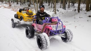 CRF 450 Barbie Jeep Gets a Tow Package