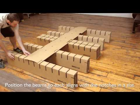 Bedigami Instructional Video, How To Assemble Your Bedigami Cardboard Furniture