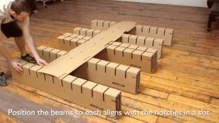 bedigami instructional video how to assemble your bedigami cardboard furniture