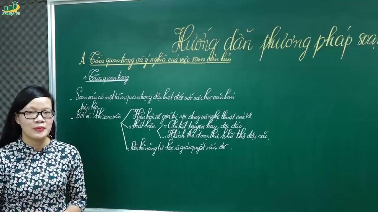 Ngữ Văn lớp 6 -Bài giảng HƯỚNG DẪN PHƯƠNG PHÁP SOẠN VĂN BẢN ngữ văn 6 học kì 1 tập 1