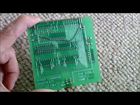 Amiga 500 512k trapdoor memory card DIY