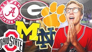ONE PLAYER FROM EVERY RANKED NCAA TEAM! Madden 19