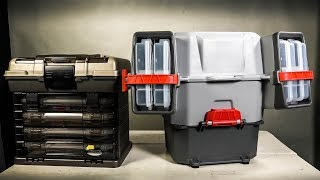 Plano V Crate Tackle Box and Bait Storage Dimensions Features thumbnail