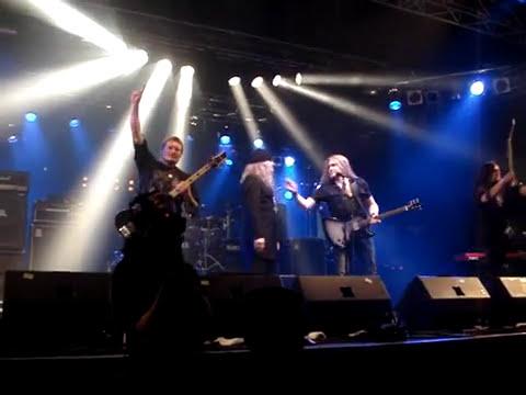Sarke with Tom Gabriel Fisher (ex Celtic Frost) - Dethroned Emperor - Wacken 2009