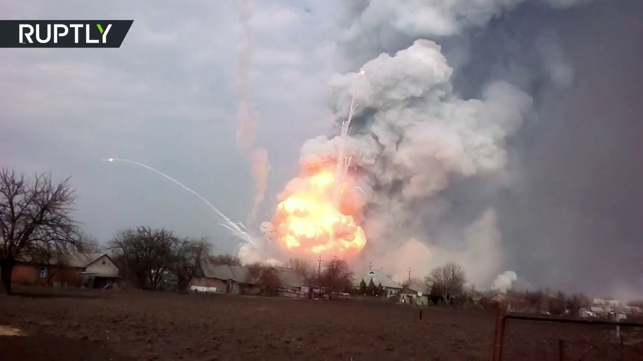 Massive fire breaks out at Ukraine's largest military depot