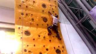 rock climbing wall at prasads imax theater in hyderabad