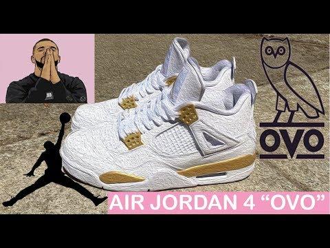 "How to: Air Jordan 4 ""OVO"" Custom Time Lapse"