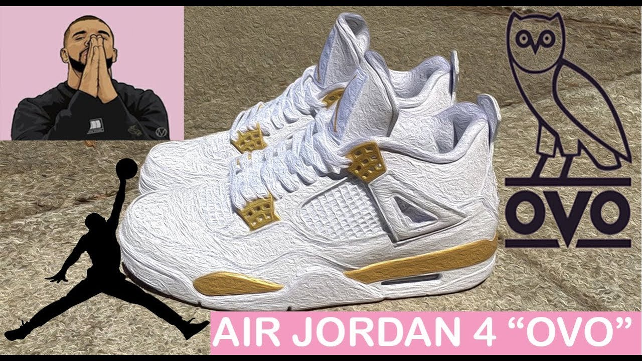 "best website 99b67 bad97 How to  Air Jordan 4 ""OVO"" Custom Time Lapse"