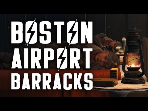 "Boston Airport Barracks - A ""Lived-in"" Brotherhood of Steel Settlement Build"