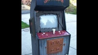 Splatterhouse Arcade Game Custom Cabinet And Electronics