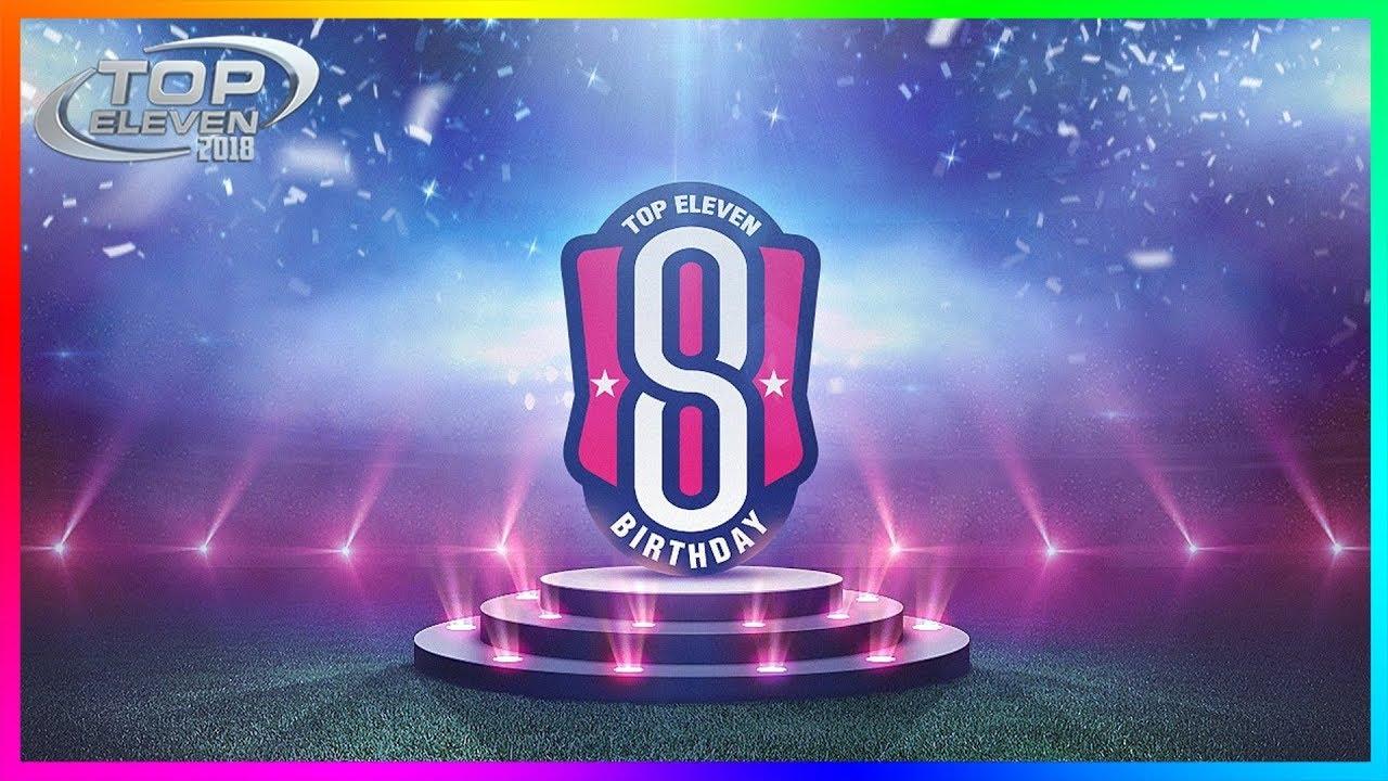 HAPPY 8TH BIRTHDAY - NEW REDEEM CODE! 🎉 | Top Eleven 2018 ...