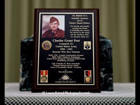 Charles G  Post  MILITARY FUNERAL - Korean Era Veteran United States Army
