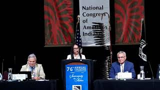 NCAI 2019 NATIONAL CONGRESS OF AMERICAN INDIANS NM Secretary of Indian Affairs   Lynn Trujillo