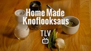 Gezonde homemade knoflooksaus