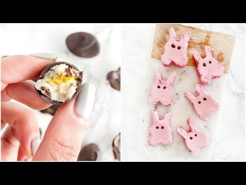 Healthy Easter Treats   creme eggs and peeps healthy dessert