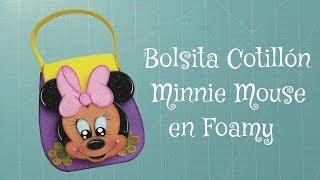 Bolsita Cotillón Minnie Mouse en Foamy, Goma Eva, Microporoso (Easy Crafts)