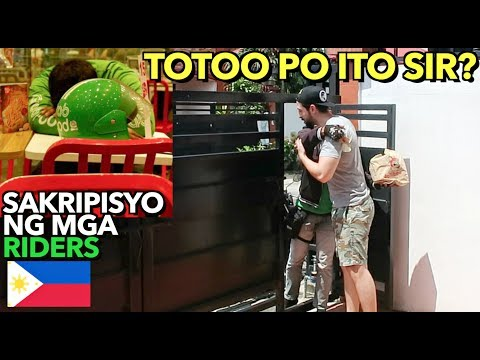 REACTIONS Of GrabFood RIDERS By Giving Them My ORDER & MONEY Tip 🇵🇭 TOUCHING MOMENTS