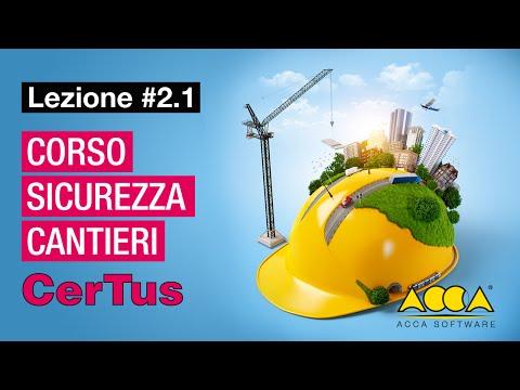 Corso Sicurezza Cantieri-CerTus-ACCA-Lez#2.1 Aspetti normativi e funzionalità del programma
