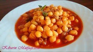 Etli nohut yemeği tarifi - Etli nohut yemeği yapılışı - Kibarin mutfagi - Sulu  Yemek Tarifleri