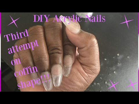 DIY: Third attempt on coffin shape nails