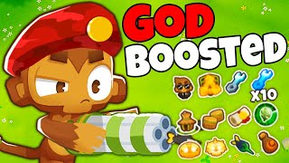 FASTEST Sniper EVER?! GOD Boosted Sniper Monkey in Bloons TD 6 is INSANE!