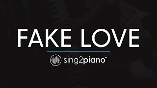 FAKE LOVE (Piano Karaoke Instrumental) BTS (방탄소년단)