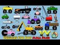 Vehicles For Kids Mega Pack - Cars Trucks Motorcycles Fire Truck for Children