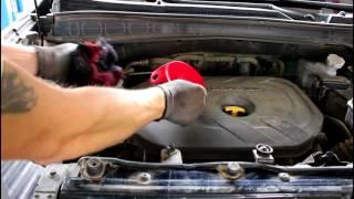 Hyundai ix35 Хендай Ай Икс 35 2014 года Замена масла и фильтров в двигателе смотреть