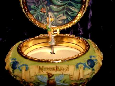 DISNEY TINKERBELL SCULPTED MUSICAL JEWELRY BOX Detail
