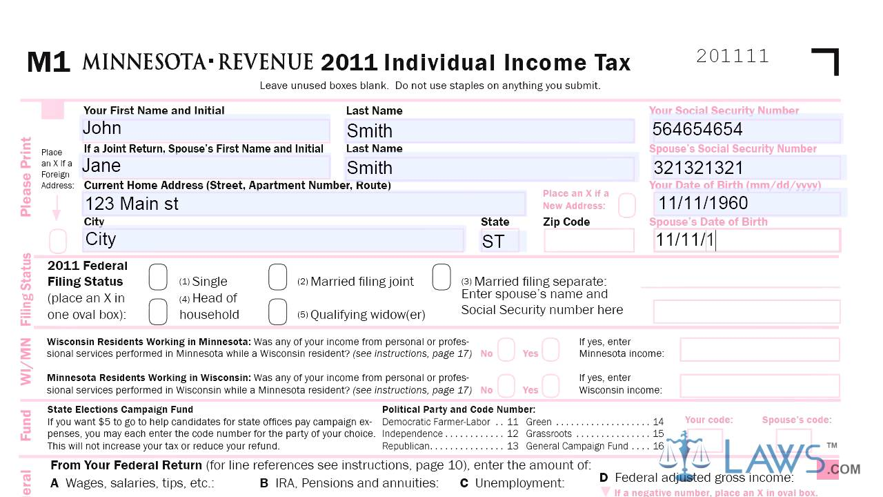Form M1 Individual Income Tax Printable Youtube